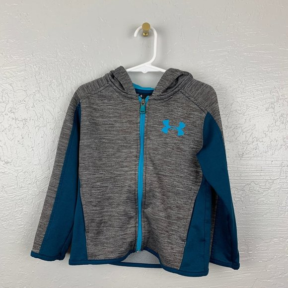 Under Armour Size 4 Blue Gray Heather Long Sleeve